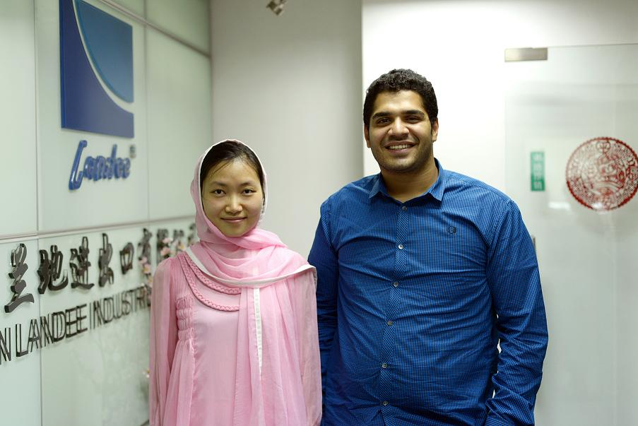 Brotherhood Client APE from Pakistan visited Landee International Sales Center China