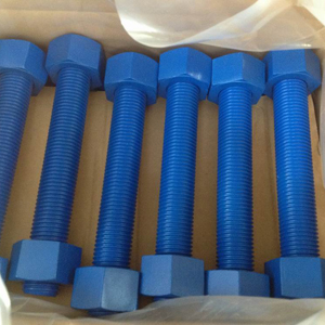 All-Thread Stud and Nut, A193 B7, A194 2H, Blue