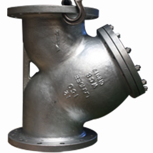 Galvanized Y-Strainer, ASTM A216 WCB, 12IN, CL150