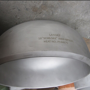 Seamless Pipe Cap, ASTM A403 WP316L, BW, 18 Inch