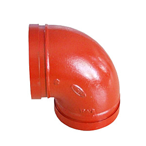 ASTM A536 Ductile Iron Grooved Elbow, 3 Inch