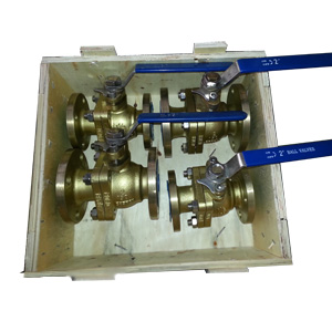 Aluminum Bronze Ball Valve, Full Bore, Flanged, 150# RF