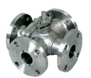 Four Ways Ball Valve, Cast, WCB, 1 Inch, 900 LB