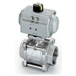 Pneumatic Control Ball Valve, ASTM A216 WCB, 1000 WOG