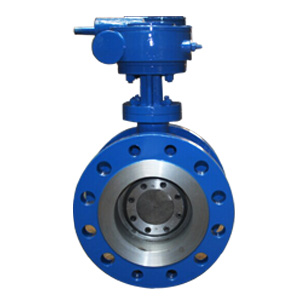 Double Flanged Butterfly Valve, PN64, Gear Operated