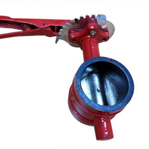 Ductile Iron Grooved Butterfly Valve, Lever Op
